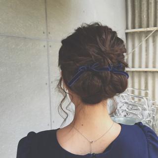 アップスタイル 結婚式 パーティ ミディアム ヘアスタイルや髪型の写真・画像