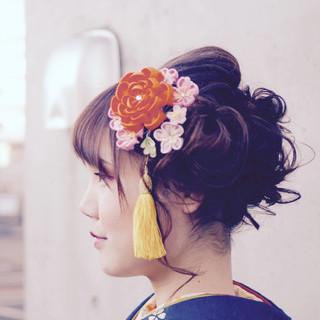 アップスタイル ロング 着物 ヘアアレンジ ヘアスタイルや髪型の写真・画像