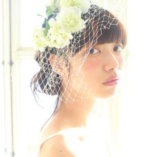 ヘアアレンジ ロング 結婚式 モテ髪 ヘアスタイルや髪型の写真・画像