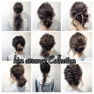 ヘアアレンジ 編み込み 簡単ヘアアレンジ 愛され ヘアスタイルや髪型の写真・画像