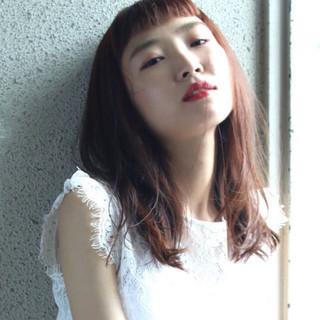 秋 ピンクアッシュ 透明感 ピンク ヘアスタイルや髪型の写真・画像