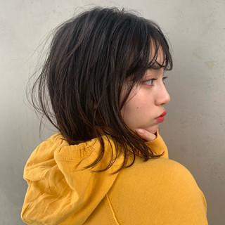 簡単ヘアアレンジ ボブ デート ゆるふわ ヘアスタイルや髪型の写真・画像