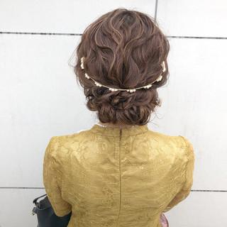 簡単ヘアアレンジ 結婚式 ヘアアレンジ アンニュイほつれヘア ヘアスタイルや髪型の写真・画像