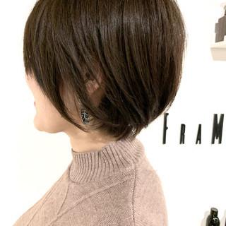 モード 簡単スタイリング 大人可愛い ショート ヘアスタイルや髪型の写真・画像