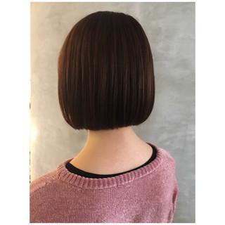 切りっぱなしボブ ブラウンベージュ タンバルモリ ボブ ヘアスタイルや髪型の写真・画像