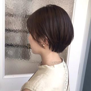 ショートボブ N.オイル ショート ナチュラル ヘアスタイルや髪型の写真・画像