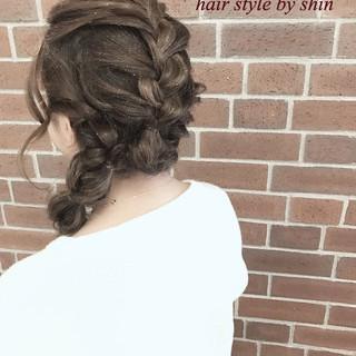 大人女子 ヘアアレンジ 簡単ヘアアレンジ ゆるふわ ヘアスタイルや髪型の写真・画像