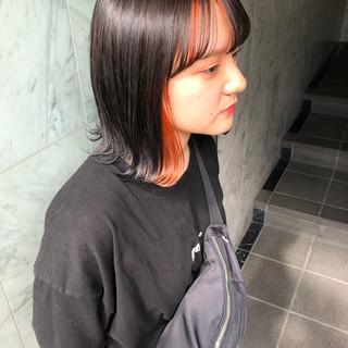 透明感カラー ストリート ボブ 韓国ヘア ヘアスタイルや髪型の写真・画像