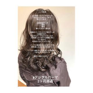 グレージュ 3Dカラー アンニュイほつれヘア ナチュラル ヘアスタイルや髪型の写真・画像