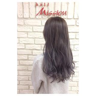 モーブ ラベンダー ラベンダーアッシュ ガーリー ヘアスタイルや髪型の写真・画像