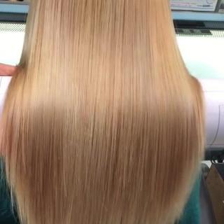 髪質改善カラー 髪質改善トリートメント ロング ブリーチ ヘアスタイルや髪型の写真・画像