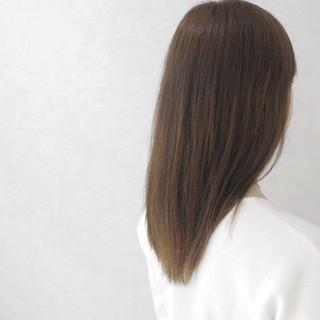 グラデーションカラー 外国人風 アッシュ ナチュラル ヘアスタイルや髪型の写真・画像