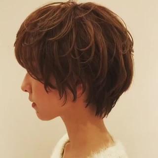 ショートヘア 簡単スタイリング ショートボブ 大人かわいい ヘアスタイルや髪型の写真・画像 ヘアスタイルや髪型の写真・画像