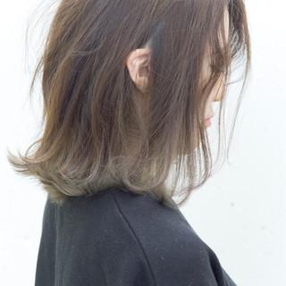 ストリート アッシュ グラデーションカラー 暗髪 ヘアスタイルや髪型の写真・画像