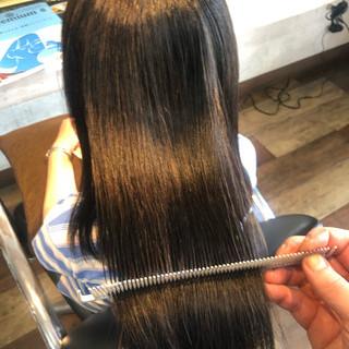 縮毛矯正 髪質改善トリートメント ロング 髪質改善カラー ヘアスタイルや髪型の写真・画像