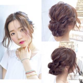 愛され マルサラ ヘアアレンジ モテ髪 ヘアスタイルや髪型の写真・画像 ヘアスタイルや髪型の写真・画像