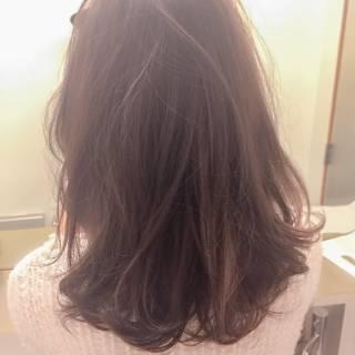 外国人風 ロブ ミディアム ストリート ヘアスタイルや髪型の写真・画像