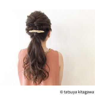 結婚式 デート ゆるふわ ヘアアレンジ ヘアスタイルや髪型の写真・画像