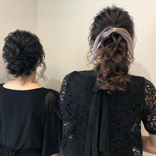 アップスタイル ポニーテール 結婚式 ミディアム ヘアスタイルや髪型の写真・画像