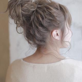 セミロング ショート ヘアアレンジ 結婚式 ヘアスタイルや髪型の写真・画像