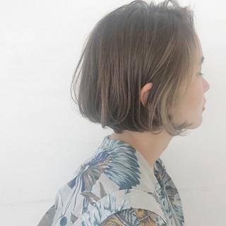 イルミナカラー ボブ モード 抜け感 ヘアスタイルや髪型の写真・画像