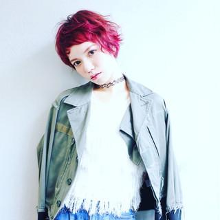 ウェットヘア 外国人風 ショート ストリート ヘアスタイルや髪型の写真・画像