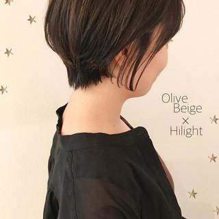 ハイライト ゆるナチュラル ショートヘア ショート ヘアスタイルや髪型の写真・画像
