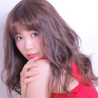 フェミニン ロング かわいい 色気 ヘアスタイルや髪型の写真・画像