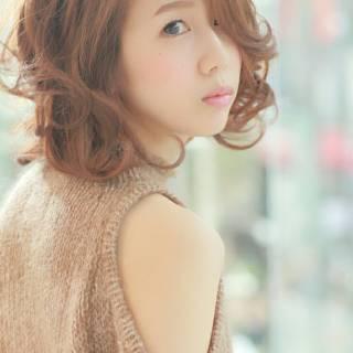 モテ髪 ミディアム 愛され 大人かわいい ヘアスタイルや髪型の写真・画像 ヘアスタイルや髪型の写真・画像