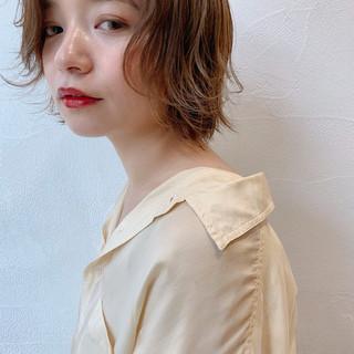 ショート 透け感 ナチュラル ウルフ ヘアスタイルや髪型の写真・画像