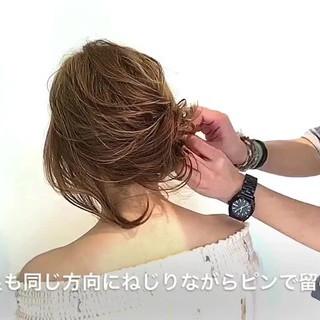 ナチュラル 女子会 ショート 簡単ヘアアレンジ ヘアスタイルや髪型の写真・画像