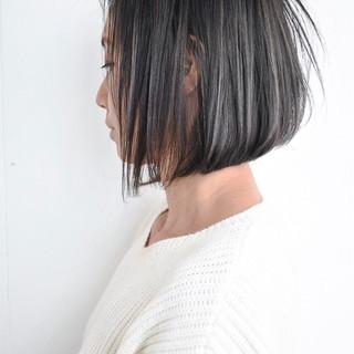 大人女子 ショート 外国人風カラー ボブ ヘアスタイルや髪型の写真・画像