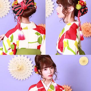 袴 和装 アップスタイル ロング ヘアスタイルや髪型の写真・画像