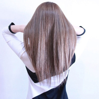 外国人風 ハイライト フェミニン 3Dカラー ヘアスタイルや髪型の写真・画像