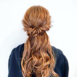簡単ヘアアレンジ エレガント ロング 上品 ヘアスタイルや髪型の写真・画像