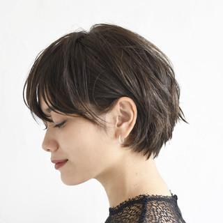ショート 黒髪 スポーツ アウトドア ヘアスタイルや髪型の写真・画像