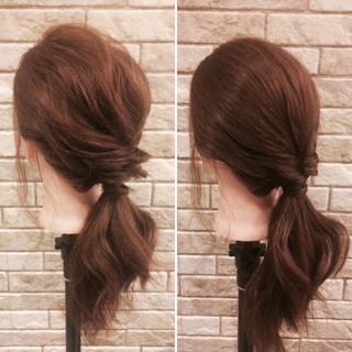 リラックス 簡単ヘアアレンジ ミディアム ヘアアレンジ ヘアスタイルや髪型の写真・画像