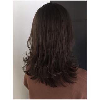 ラベンダーグレージュ ナチュラル くすみカラー アッシュグレージュ ヘアスタイルや髪型の写真・画像