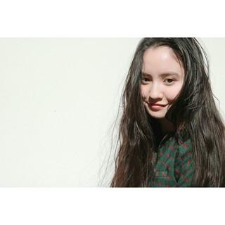 大人かわいい ロング 黒髪 デート ヘアスタイルや髪型の写真・画像