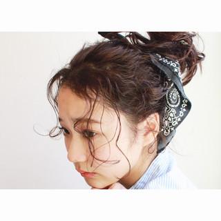 ピュア 夏 黒髪 モード ヘアスタイルや髪型の写真・画像