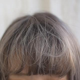 ハイライト 前髪アレンジ ナチュラル ショート ヘアスタイルや髪型の写真・画像