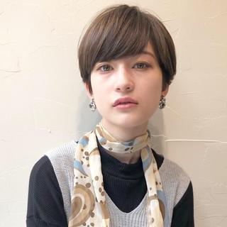 大人ショート オフィス ベリーショート ショートヘア ヘアスタイルや髪型の写真・画像