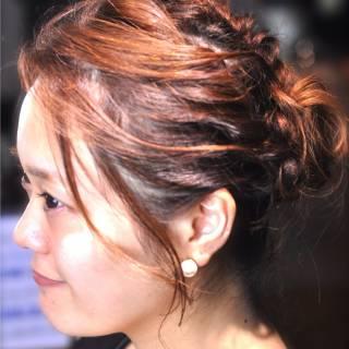 ゆるふわ まとめ髪 愛され ヘアアレンジ ヘアスタイルや髪型の写真・画像