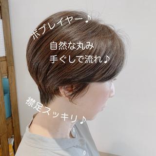 大人ショート ショートヘア 大人可愛い ショートボブ ヘアスタイルや髪型の写真・画像