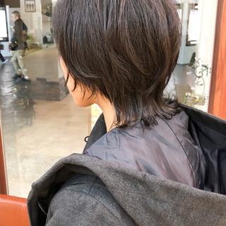 ウルフカット マッシュショート マッシュ ストリート ヘアスタイルや髪型の写真・画像