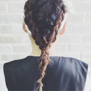ヘアアレンジ ストリート バンダナ パンク ヘアスタイルや髪型の写真・画像