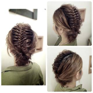 パーティ くるりんぱ アップスタイル ロング ヘアスタイルや髪型の写真・画像 ヘアスタイルや髪型の写真・画像