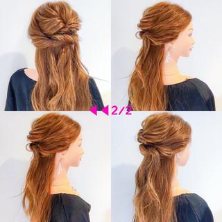 ロング オフィス デート ヘアアレンジ ヘアスタイルや髪型の写真・画像