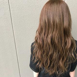 女子力 アウトドア ナチュラル ロング ヘアスタイルや髪型の写真・画像