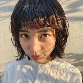 アウトドア 簡単ヘアアレンジ ボブ デート ヘアスタイルや髪型の写真・画像